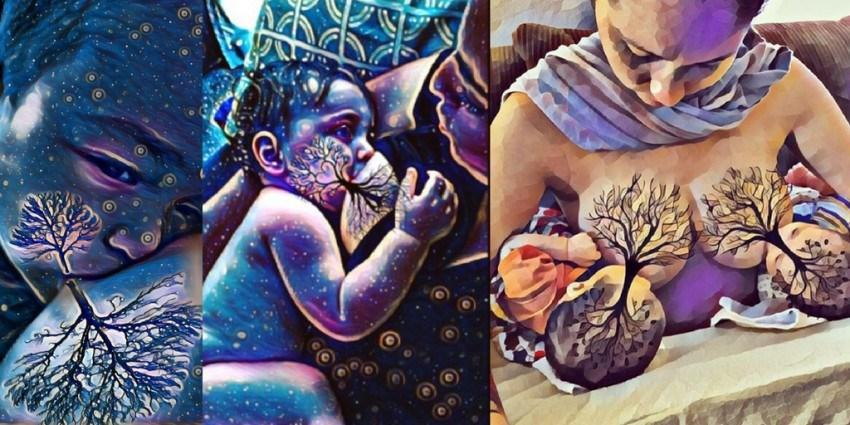 Tree of life – Breastfeeding czyli karmienie naturalne z symbolem drzewa życia